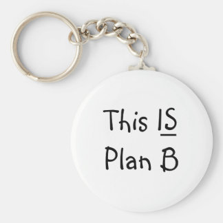 The Original This IS Plan B Keychain