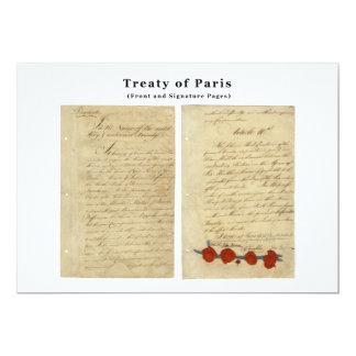The ORIGINAL Treaty of Paris 1783 Card