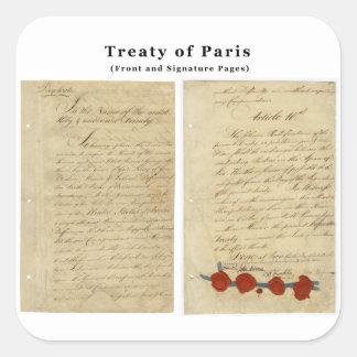 The ORIGINAL Treaty of Paris 1783 Square Sticker