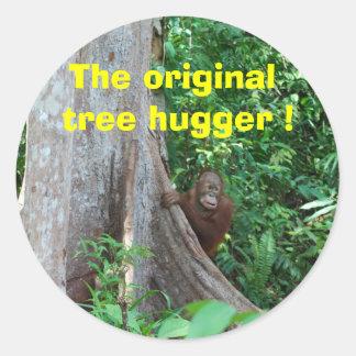 The original tree hugger - sticker