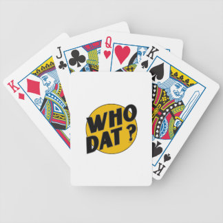 """The Original Vintage """"Who Dat?"""" Bicycle Playing Cards"""