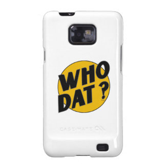 """The Original Vintage """"Who Dat?"""" Samsung Galaxy SII Cover"""