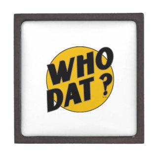"The Original Vintage ""Who Dat?"" Premium Keepsake Boxes"
