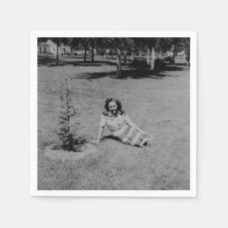 The Origins Of The Scrawny Christmas Tree Paper Napkin
