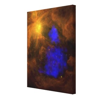 The Orion nebula in the infrared Canvas Print