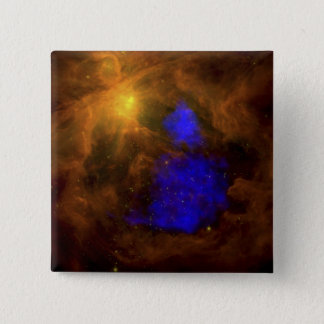 The Orion nebula in the infrared Pinback Button
