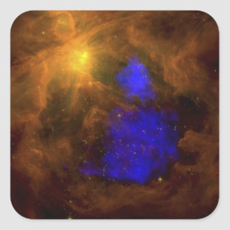 The Orion nebula in the infrared Square Sticker
