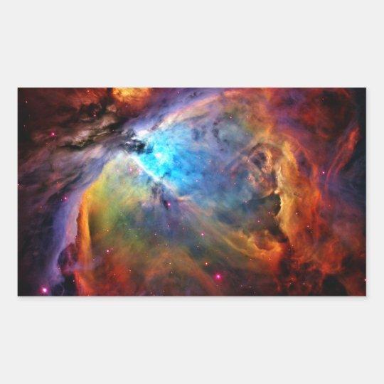 The Orion Nebula Rectangular Sticker