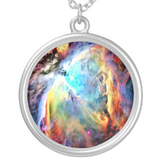 The Orion Nebula Silver Plated Necklace