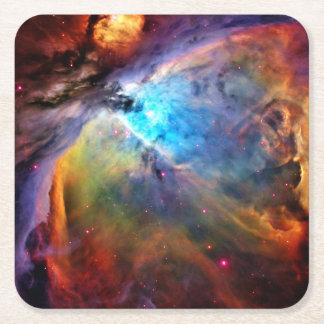 The Orion Nebula Square Paper Coaster