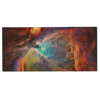 The Orion Nebula Wood USB 2.0 Flash Drive