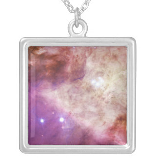The Orion Nebula's Biggest Stars Messier 42 M42 Square Pendant Necklace