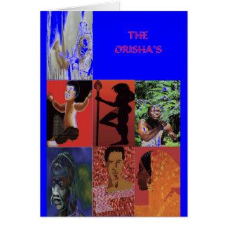 THE ORISHAS BY LIZ LOZ GREETING CARD