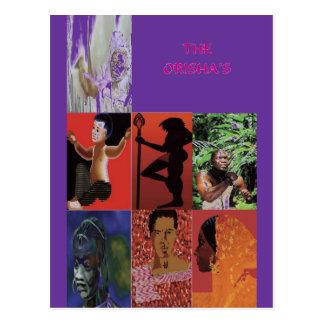 THE ORISHAS BY LIZ LOZ POSTCARD