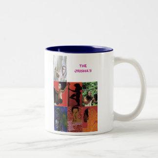 THE ORISHAS BY LIZ LOZ Two-Tone COFFEE MUG