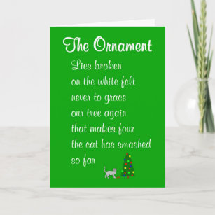 the ornament a funny christmas poem holiday card - Funny Christmas Poem