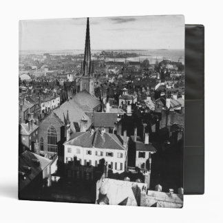 The ornamented spire of a church in Boston 3 Ring Binder
