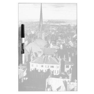 The ornamented spire of a church in Boston Dry-Erase Board