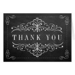 The Ornate Chalkboard Wedding Collection Stationery Note Card