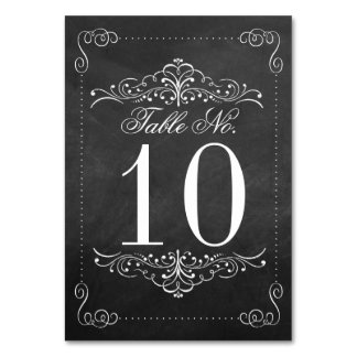 The Ornate Chalkboard Wedding Collection Card