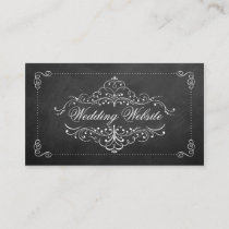 The Ornate Chalkboard Wedding Collection Enclosure Card