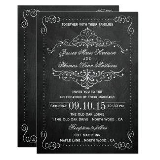 The Ornate Chalkboard Wedding Collection - Invites