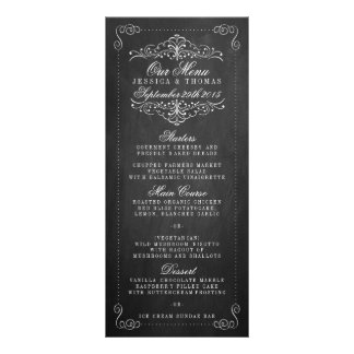 The Ornate Chalkboard Wedding Collection - Menus Rack Card Design