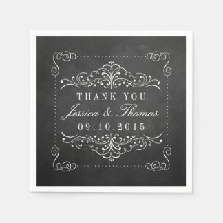 The Ornate Chalkboard Wedding Collection Napkin