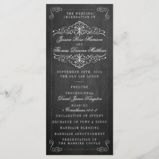 The Ornate Chalkboard Wedding Collection - Program