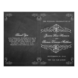 The Ornate Chalkboard Wedding Collection - Program Flyer