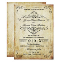 The Ornate Flourish Vintage Wedding Collection Card