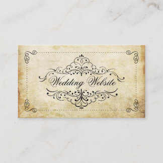 The Ornate Flourish Vintage Wedding Collection Enclosure Card