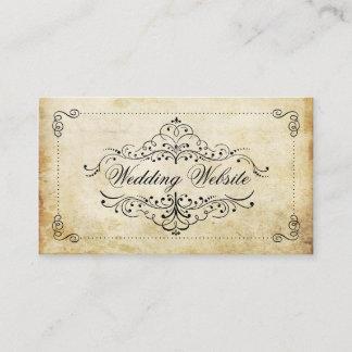The Ornate Flourish Vintage Wedding Collection Enclosure Card