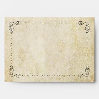 The Ornate Flourish Vintage Wedding Collection Envelope