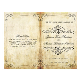 The Ornate Flourish Vintage Wedding Collection Flyer