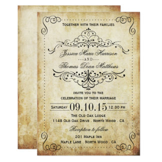 The Ornate Flourish Vintage Wedding Collection Invitation