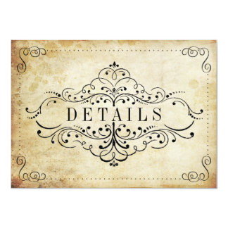 The Ornate Flourish Vintage Wedding Collection 4.5x6.25 Paper Invitation Card