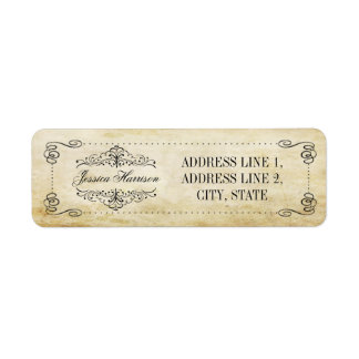 The Ornate Flourish Vintage Wedding Collection Label