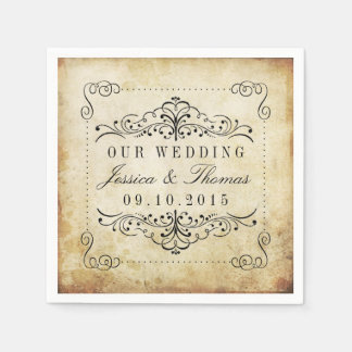 The Ornate Flourish Vintage Wedding Collection Napkin