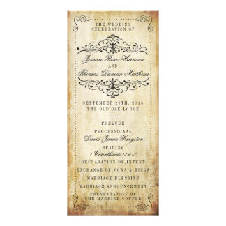 The Ornate Flourish Vintage Wedding Collection Rack Card Template