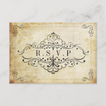 The Ornate Flourish Vintage Wedding Collection RSVP Card