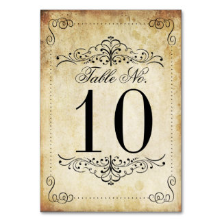 The Ornate Flourish Vintage Wedding Collection Table Number