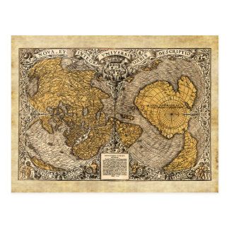 The Orontius Finaeus World Map, 1531 Postcard