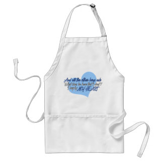 The other boys ask apron