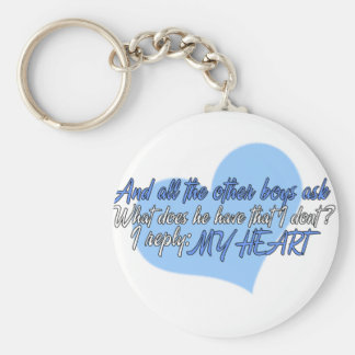 The other boys ask basic round button keychain