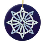 The Other Celtic Knotwork Snowflake Ceramic Ornament