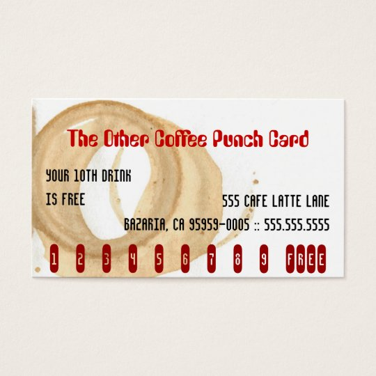 The Other Coffee Punch Card