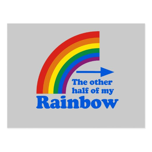 THE OTHER HALF OF MY RAINBOW (Left) Postcard