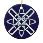 The Other Other Other Celtic Knotwork Snowflake Ceramic Ornament