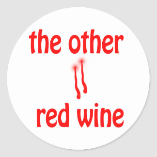 The Other Red Wine Classic Round Sticker